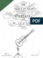 Aguado, Dionisio (1784-1849)_Six Menuets & Six Valses Op. 12