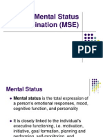 2. the Mental Status Examination (MSE)