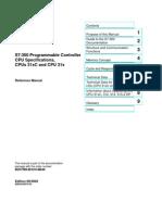 PLC Siemens S7-300 Cpu 312C Manual
