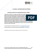 ESMO RCT Cancer de La Vessie Guide Pour Les Patients