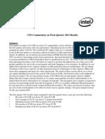 CFO Commentary on Q1 2013 Final