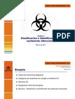 Clasificacion e Identificacion de Sustancias Infeciosas