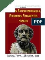 Margines, Batracomiomaquia, Epigramas, Fragmentos