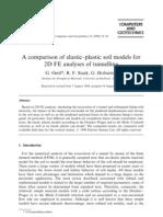 elastic±plastic soil models for 2D FE analyses of tunnelling