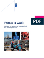 Fitness to Work Offshore Guideline