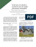 estado del arte en la construccion de viviendas de campo sustentables