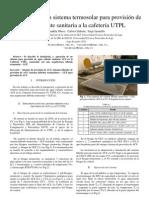instalacion de un sistema hibrido termosolar GLP para provision de ACS