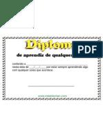 Diploma de Aprendiz de Qualquer Coisa (O individuo que assimila tudo com rapidez e perfeição, aprende facil)