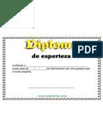 Diploma de Esperteza (Voce conhece alguem que se sai bem em tudo que faz até das situações mais complicadas)