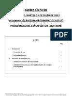 Agenda Del Pleno16 Julio 2013