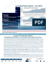 Credit Suisse Monthly Survey of Real Estate Agents Results June 2013
