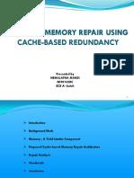 efficient memory repair using cache based redundancy
