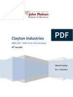 clayton industries case arnell Running head: clayton industries case analysis upon arnell's arrival, there was fear of plant closure and mass layoffs these fears lead to staff concerns and intense political pressure due to government contracts.