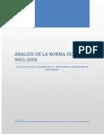 Analisis de La Norma Iso 9001-Calidad