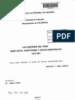 T - Enrique P. Mesa García - Los orígenes del PSOE - Mercancía, positivismo y socialdemocracia