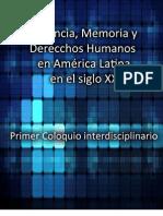 Violencia Memoria y Derechos Humanos en America Latina en El Siglo XX Coloquio