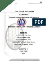 Grupo 01 Presion Tributaria y Exoneraciones