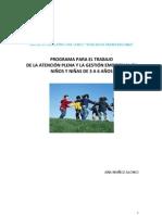 Programa Para El Trabajo de La Atencion Plena y Gestion Emocional Con Ninos de 3 a 6 Anos