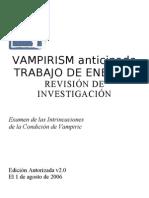 Ava - Vampirism - Revision de Investigacion