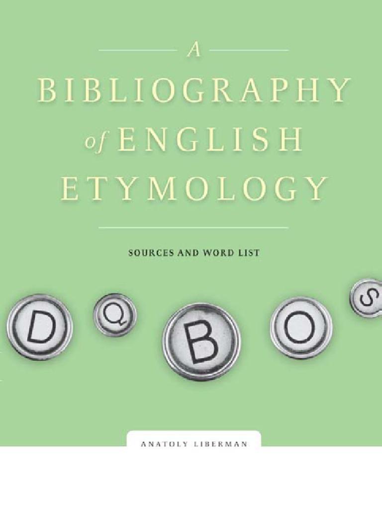 A Bibliography of English Etymology 453cf851e5584