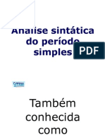 Slides Analise Sintatica Periodo Simples