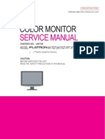 LG FLATRON Monitor W1752T Service Manual