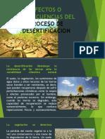 Efectos o Consecuencias Del Proceso de Desertificacion
