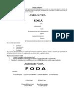 Análisis de FODA