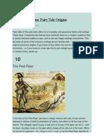 Top 10 Gruesome Fairy Tale