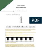 Leccion 1 y 2 de Piano