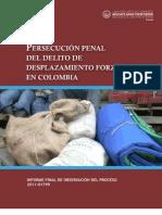 Persecución penal del delito de desplazamiento forzado en Colombia