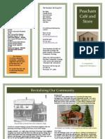 Peacham Cafe Brochure Summer 2013