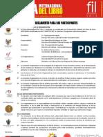 Reglamento para los participantes en la FIL Arequipa 2013