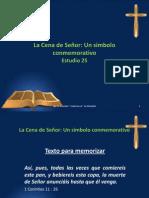 La Cena del Señor - Un simbolo conmemorativo - Estudio 26