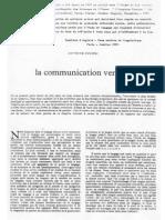 Culioli A-article 1965-La communication verbale