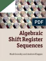 Algebraic Shift Register Sequences
