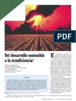 Del Desarrollo Sostenible a La Ecoeficiencia