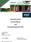 Jordanhill Annual Report Financial Statement 2012