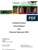 Jordanhill Annual Report Financial Statement 2012