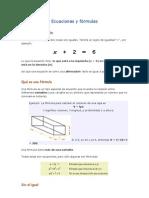 Ecuaciones y fórmulas