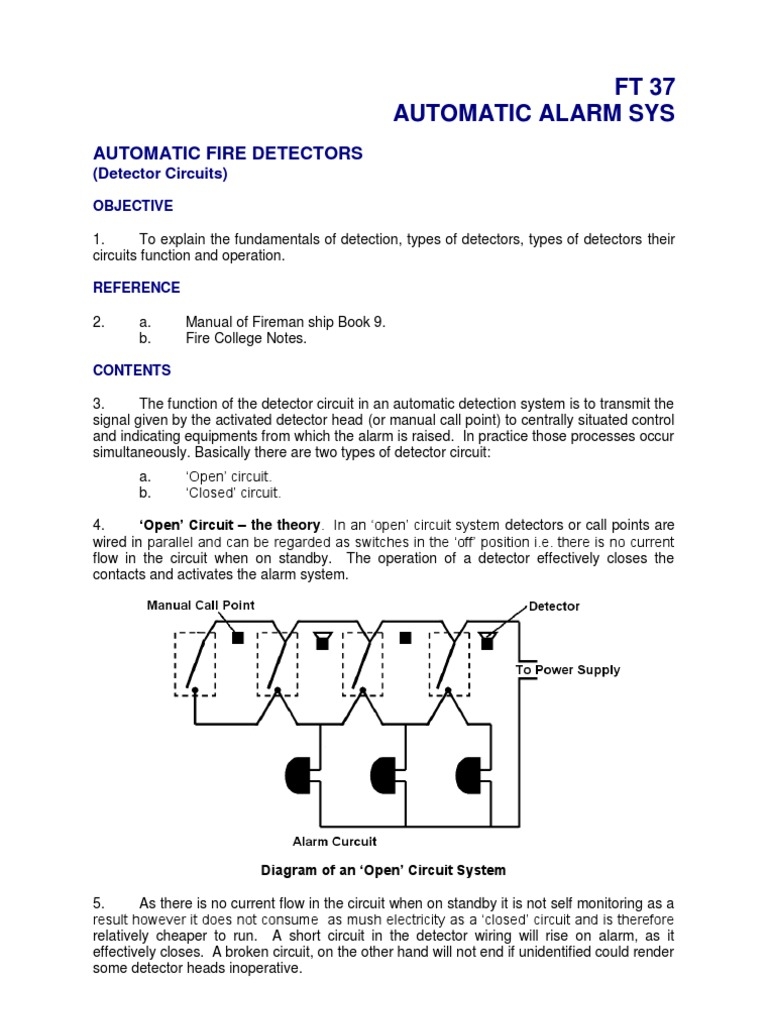 Automatic Alarm System Detector Circuit Relay Electronic Circuits Current Flow In A