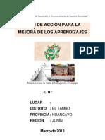 Plan de Accion Mejora de Los Aprendizajes+Inicial+2013