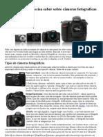 Tudo que você precisa saber sobre câmeras fotográficas