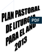 PLAN PASTORAL LITURGICO AÑO 2013