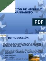 REMOCIÓN DE HIERRO Y MANGANESO8.pptx