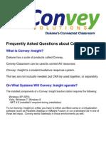 Convey Insight FAQ