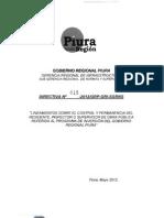 Directiva Regional 015-2012-Lineamieto Sobre Control y Permanencia de Ins, Sup y Res de Obra Publica