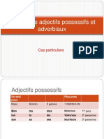 Accord Des Adjectifs Possessifs Et Adverbiaux