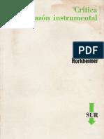 Horkheimer Max Critica de La Razon Instrumental OCR