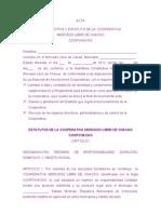 Sep. 25 -2012 Proyecto de Estatutos de La Coop.mercado Libre de Chacao.